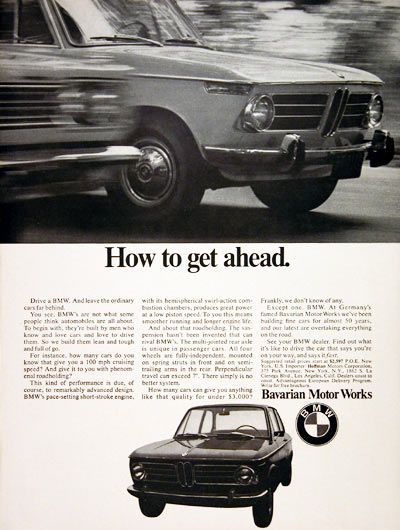 1969 Bmw Coupe Original Vintage Ad How To Get Ahead Prices Start At 2 597 Msrp
