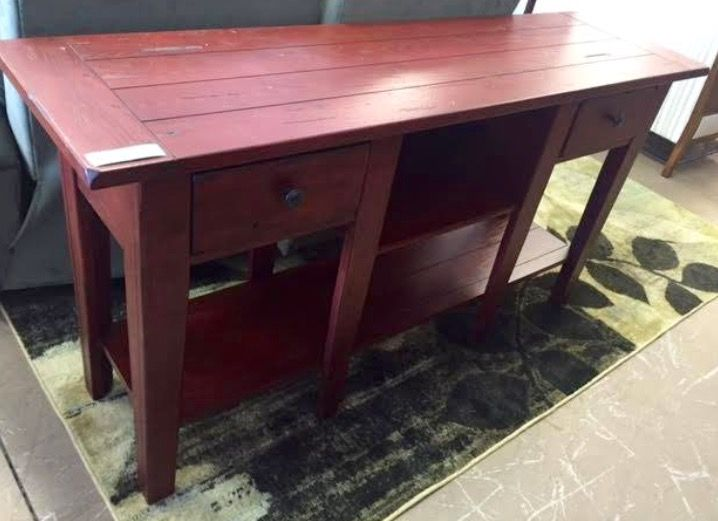 Broyhill Attic Heirlooms Sofa Table In Red Stain Furniture Home Decor Table