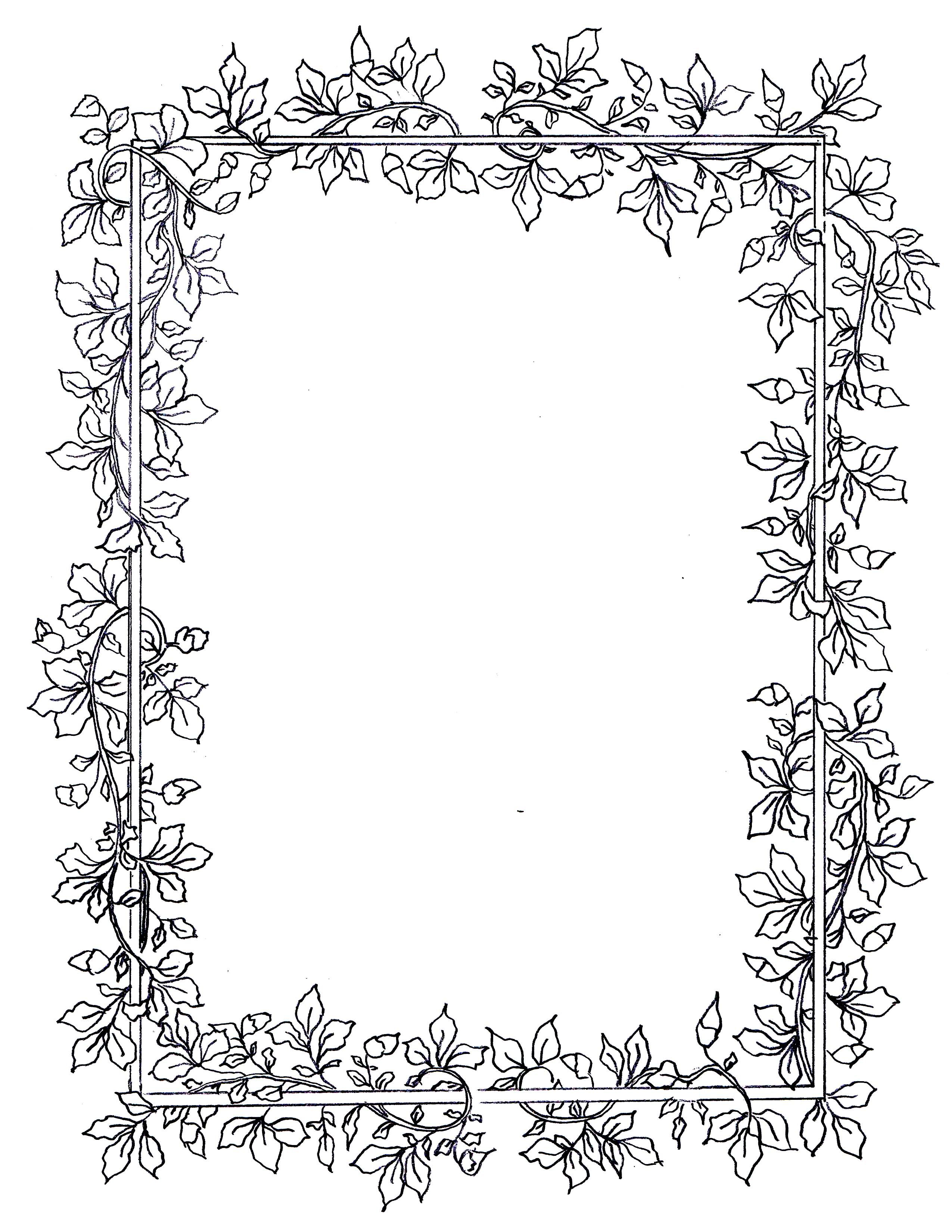 Billedresultat for floral frames and borders