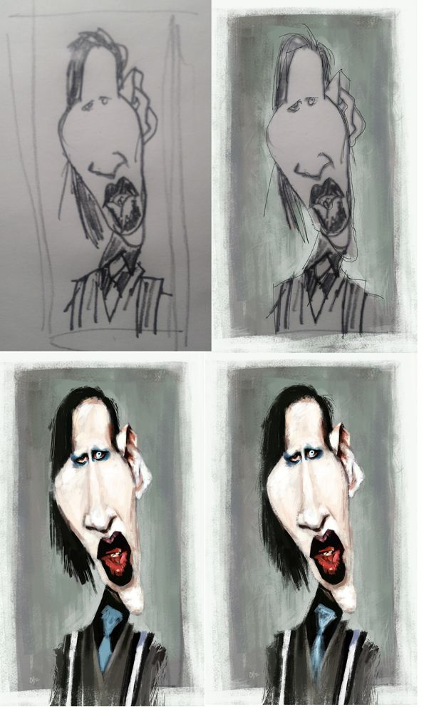 Step by Step Marilyn Manson by Olle Magnusson