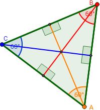 Triángulo Equilátero Alturas Y Ortocentro Geometria Y Trigonometria Geometría Plana Triangulos