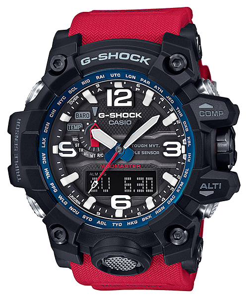 4ce3f15c1 G-Shock GWG-1000RD-4A Rescue Red Mudmaster | Watches | Relojes g ...