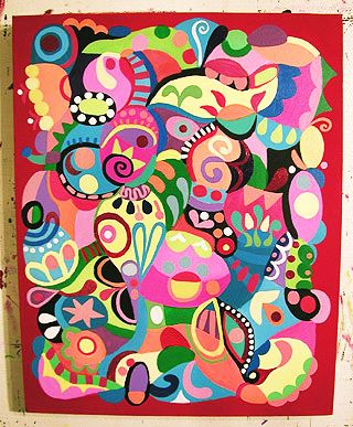 Inspiration for an abstract work. -- How to Paint an Abstract ...