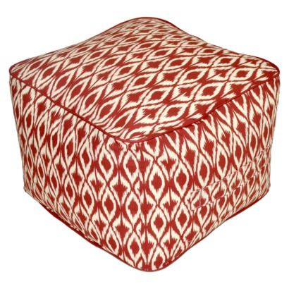 From Target Threshold Outdoor Rectangular Pouf Footstool Red