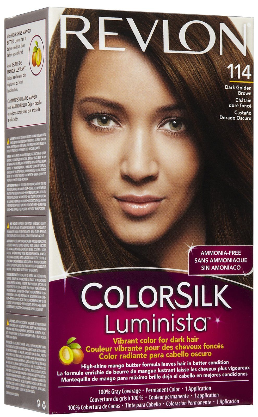 Revlon Colorsilk Luminista Permanent Hair Color Light Golden Brown