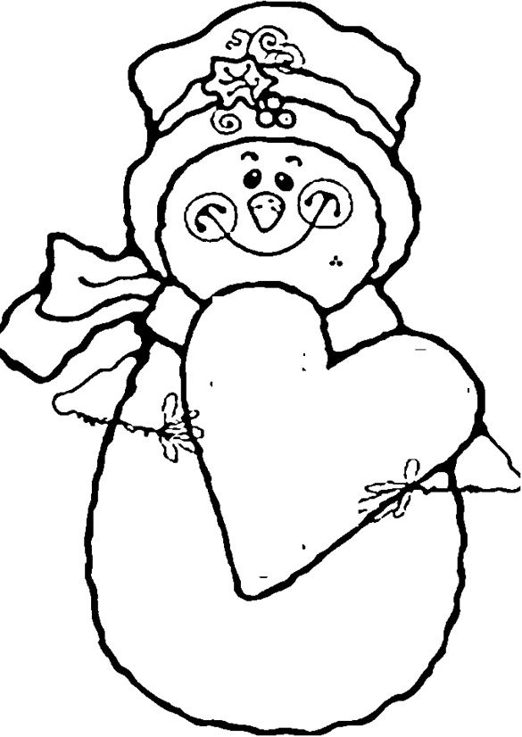 Snowman Smile With Love Coloring Pages Coloring Pages For Kids - snowman template