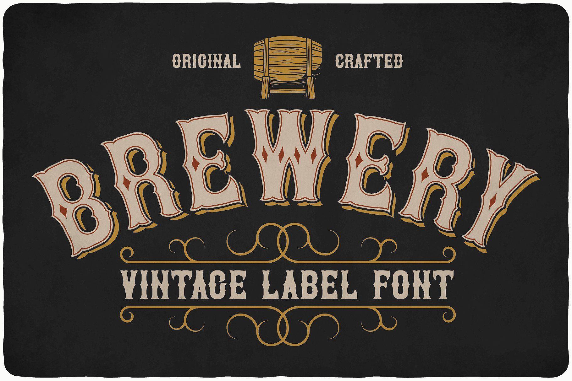 Big Bundle 14 Fonts Vintage Fonts Typeface Retro Design