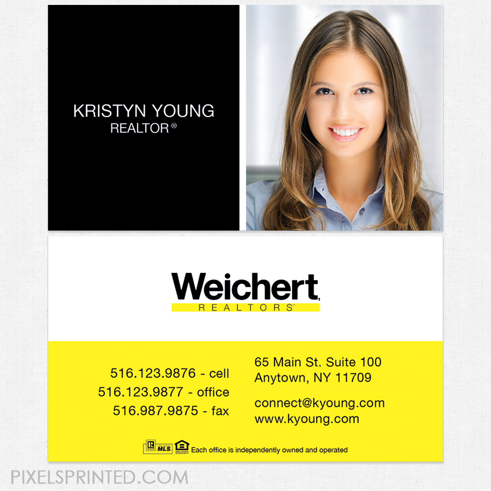 Weichert business cards, business cards, Weichert cards, realtor ...