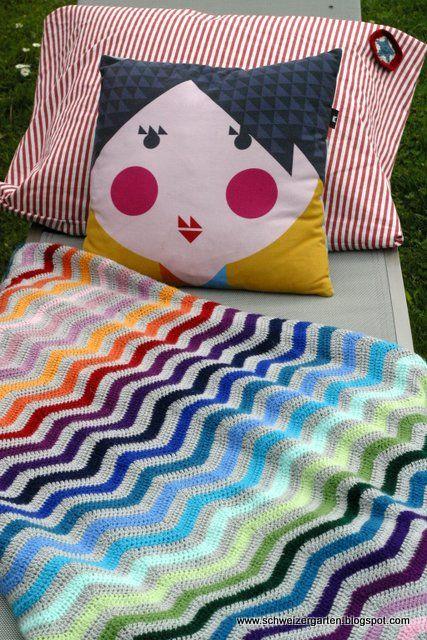 Ein Schweizer Garten: Häkeln Ripple Afghan blanket | Crochet ...