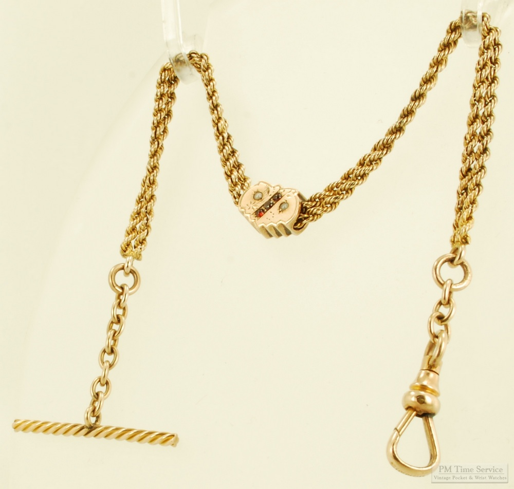 Another Of The Items We Introduced For Sale This Week Is This Vintage 9 5 Simmons Straight Style Double Strand P Pocket Watch Chain Watch Chain Pearl Gemstone