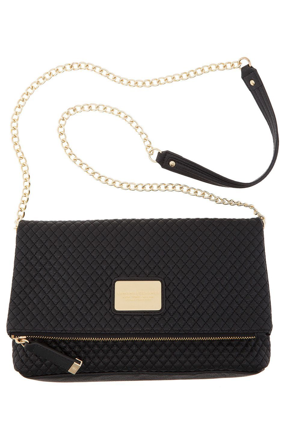 Quilted Foldover Crossbody Bag - Handbags - Womens Accessories - Armani  Exchange a405fa85ba869