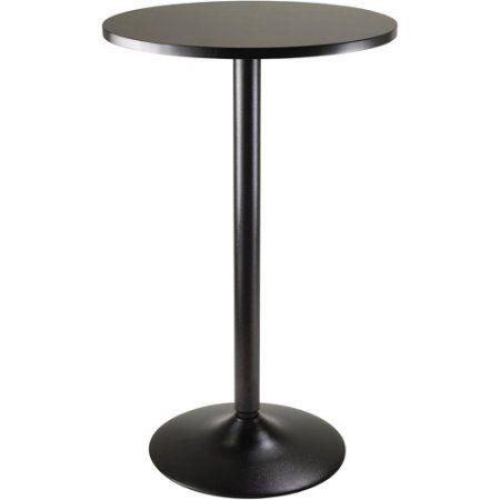 Obsidian 24 Inch Round Pub Table Black Multicolor