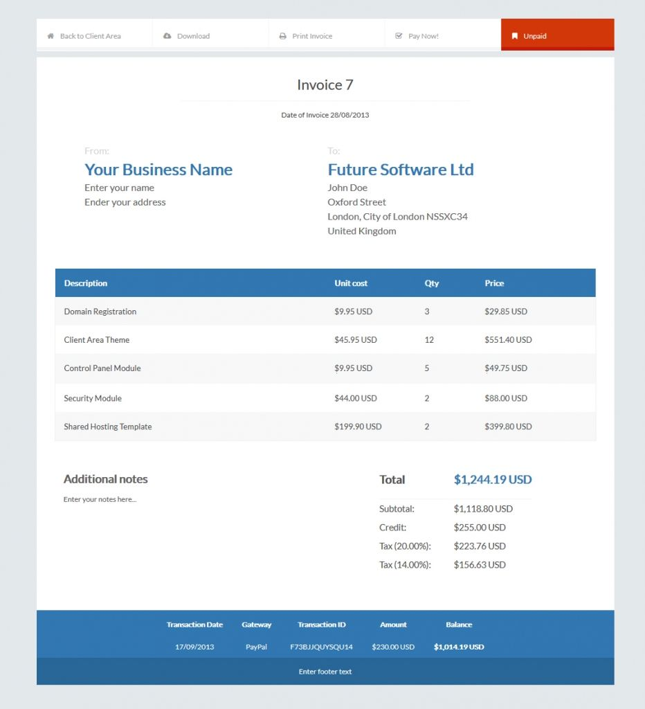 Invoice Template For Pages Resumes Cv Examples Galery