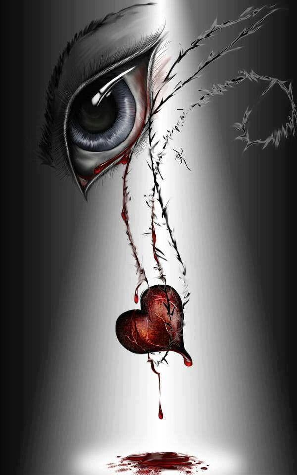 Pin By Anna Strange On The Window To The Soul Broken Heart Art Broken Heart Drawings Eye Art Blood heart wallpaper hd