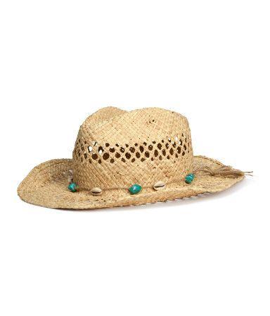 sombrero  paja  lazo  pamela  playa  rafia  H M 12 d47205ec6436