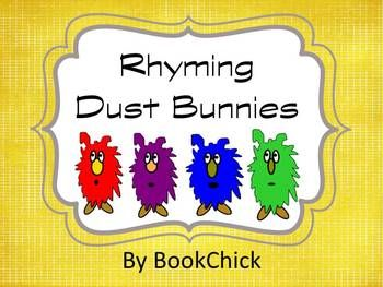 Rhyming Dust Bunnies Pack Rhyming Words Bunny Blank Cards