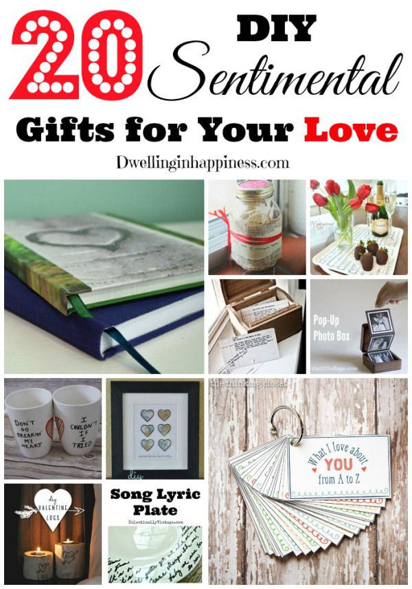 20 DIY Sentimental Gifts For Your Love That Are Budget Friendly