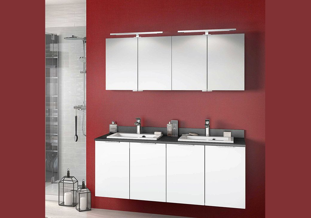 Rouge satiné et blanc ultra mat, un contraste étonnant mais élégant