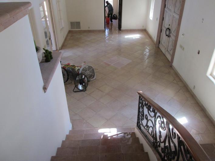 white washed saltillo tile floor