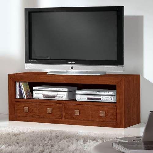 mueble tv colonial 017 muebles saskia en pamplona