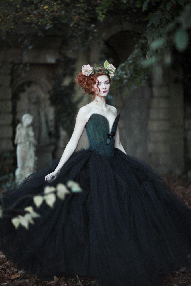 Black ethereal fairytale dress