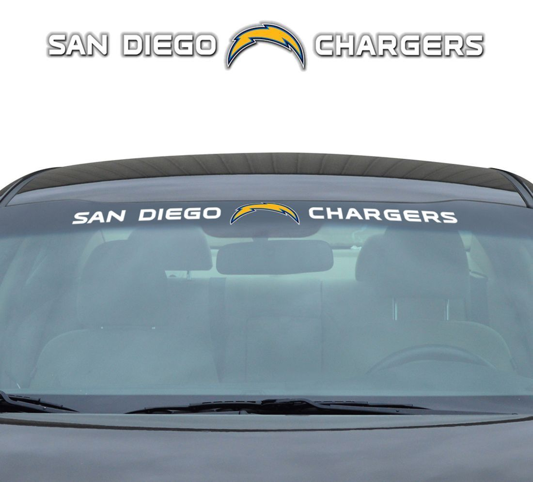 """San Diego Chargers 35""""x4"""" Windshield Decal"""