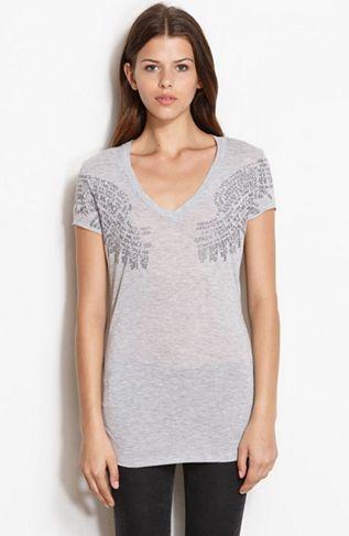 Neck Logo Teeonline Shirts Armani V Tee Womens Wing Exclusive RxRwpvq