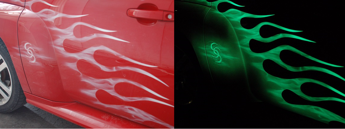 Red Glow In The Dark Paint For Cars Online