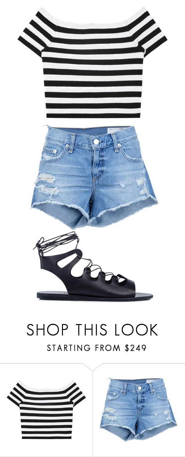 """""""Untitled #4029"""" by briquel13287 ❤ liked on Polyvore featuring Alice + Olivia, rag & bone/JEAN and Ancient Greek Sandals"""