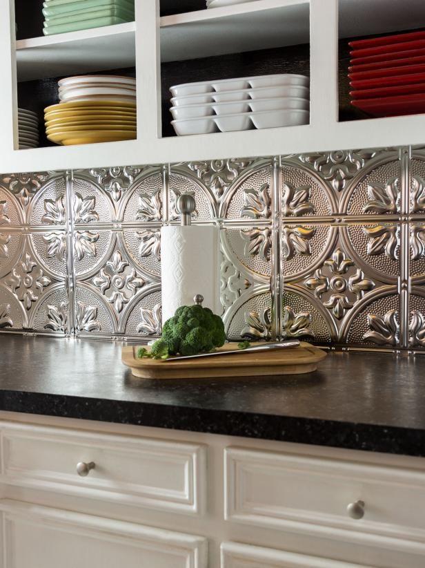 How to Install a Tin Tile Backsplash Metallic, Stylish and Kitchens