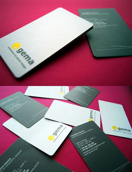 Gema Architecture Interior Design Business Card Inspiration