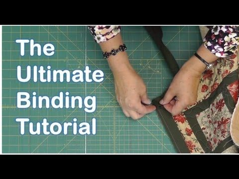 Every quilter needs to see this tutorial!! The Ultimate Quilt Binding Tutorial by Jenny Doan of the Missouri Star Quilt Company!