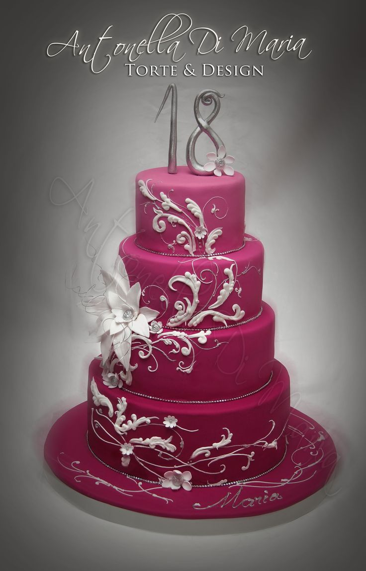 Elegant 18th Birthday Cakes For Girls Found On Cakecentral Com