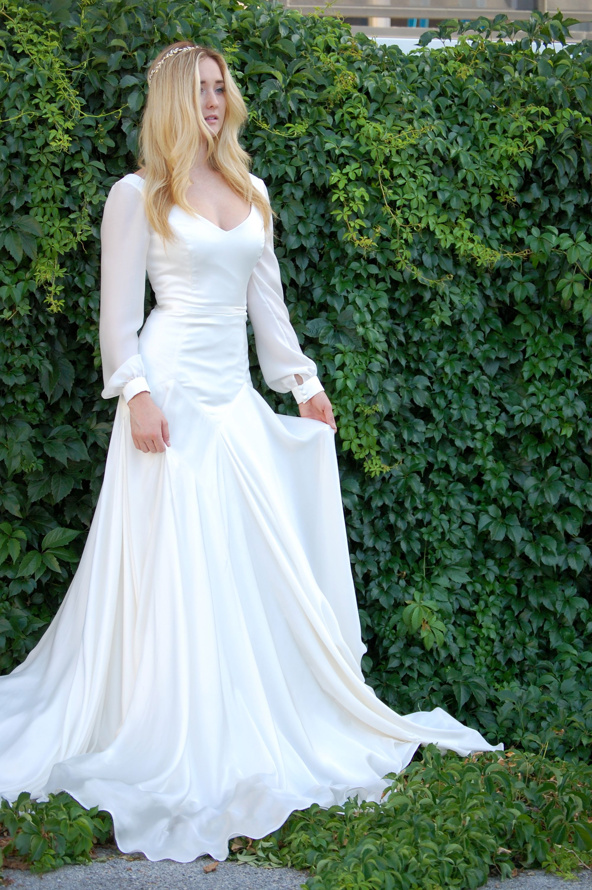 modest wedding dress with long sleeves from alta moda. -- (modest ...