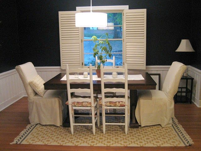 Chair Makeovers via Ten June blog (love the mix of styles!)