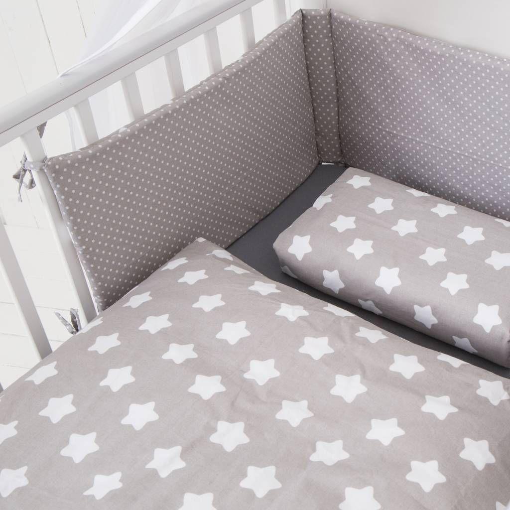 Bett Set Finja Grau 135x100 Cm Baby Bettwasche Bett Und