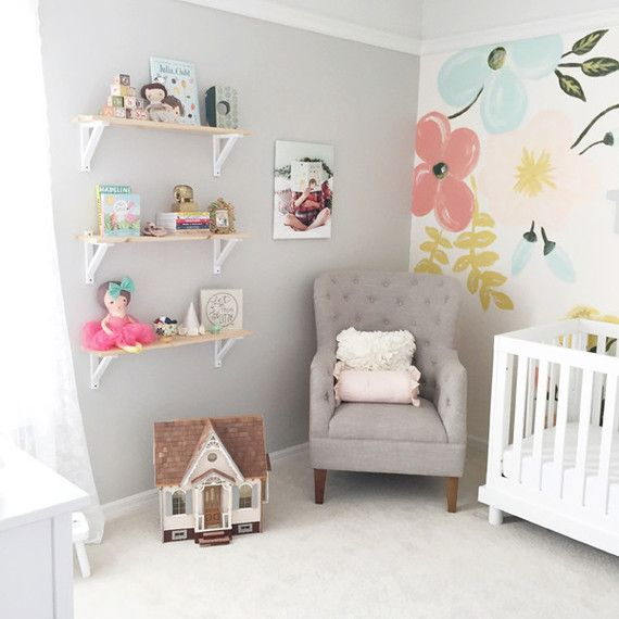 Diy Baby Nursery Floral Wall Decor: Cakelet - Nursery Ideas