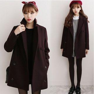 Sienne - Notch Lapel Double-Breasted Coat