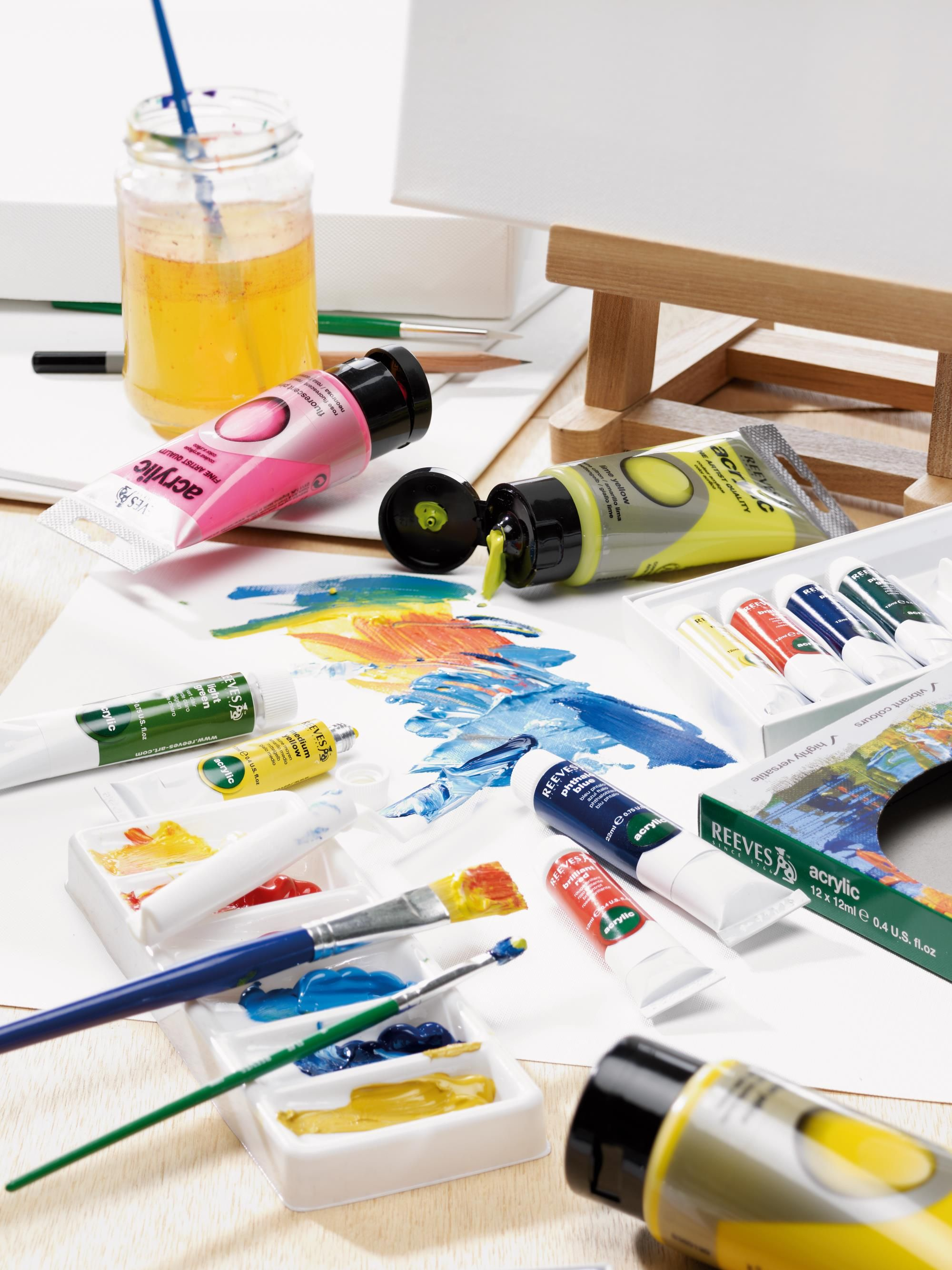 Get Super Creative With Reeves Beginner Paints Add Layers With