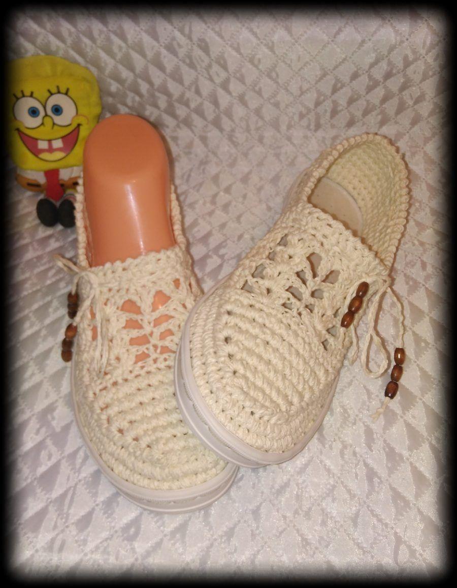 Pin de Samah Shahat en crochet shoes | Pinterest | Zapatos tejidos ...