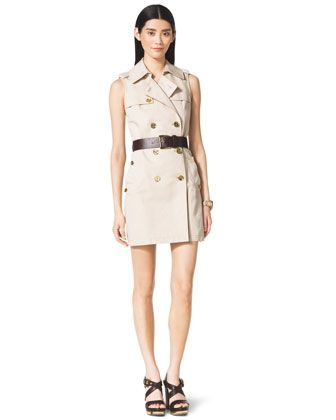 $175 MICHAEL Michael Kors  Double-Breasted Trench Dress.