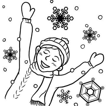 Printable Winter Coloring Pages Snow falls, Kindergarten and - copy coloring pages for winter printable