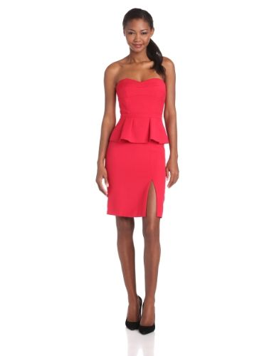 54e66f23e388 BCBGMAXAZRIA Women's Penelope Strapless Bustier Peplum Dress, Riored, 12  BCBGMAXAZRIA http://