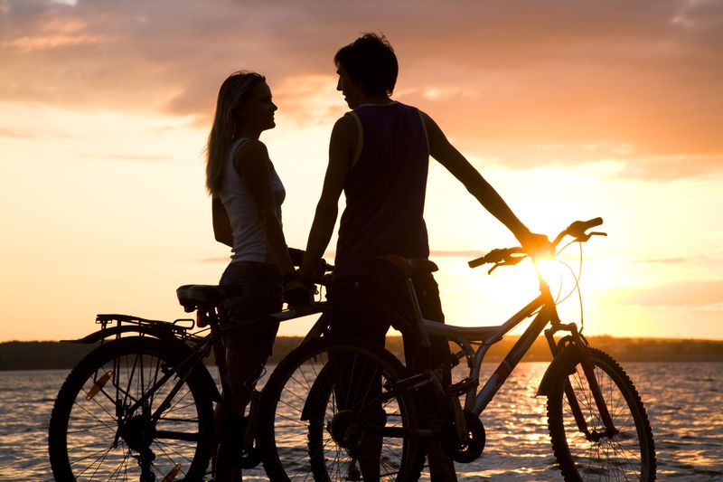 Image result for couple biking