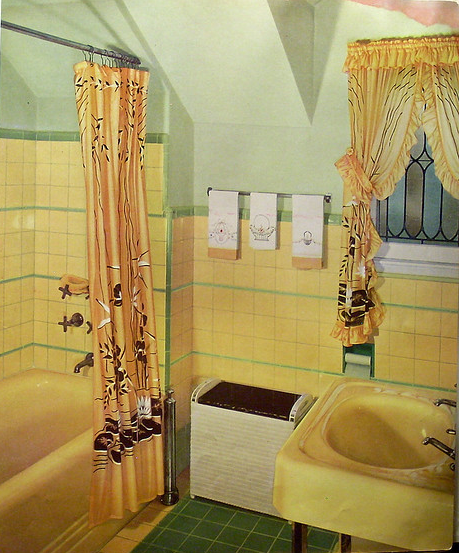 Yellow Mid Century Bathroom Yellow Bathroom Decor Yellow