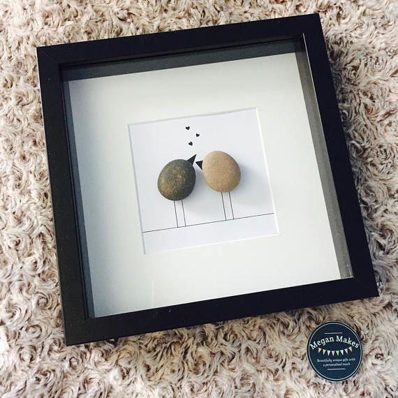 Photo of Lovebirds pebble art   Etsy