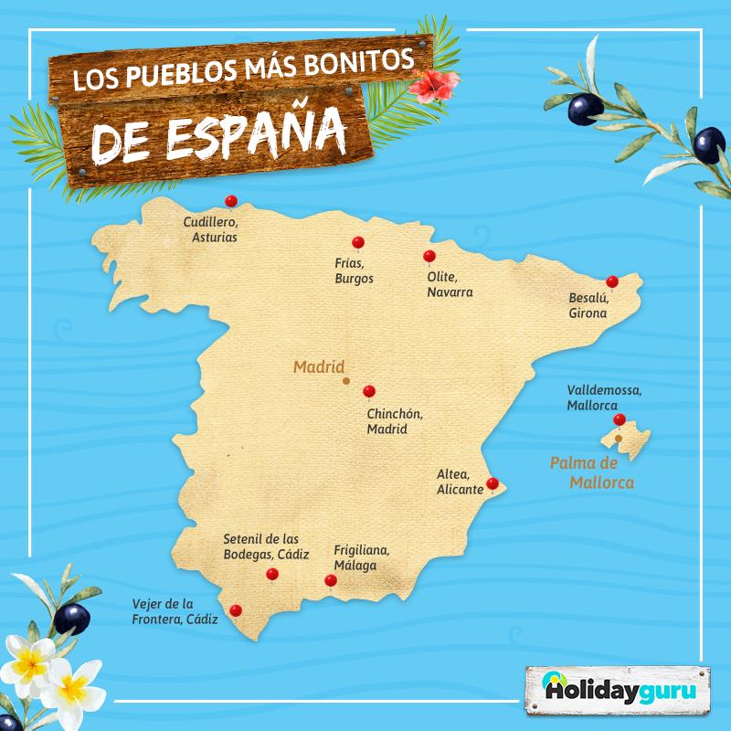 Mapa De España Bonito.Los Pueblos Mas Bonitos De Espana Imprescindibles En 2019