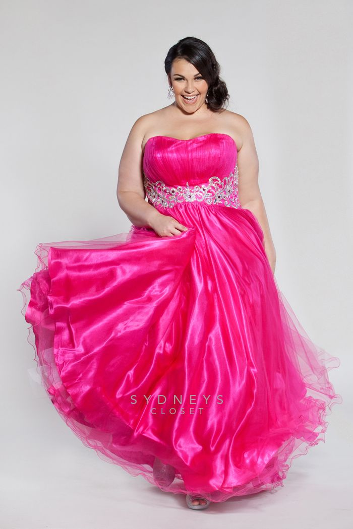 e7dcc59e13f Plus Size Pretty Pink Tulle Plus Size Evening Gown