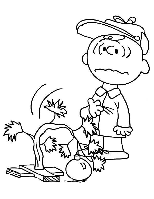 Charlie Brown Christmas Coloring Pages. Sad Christmas Tree ...