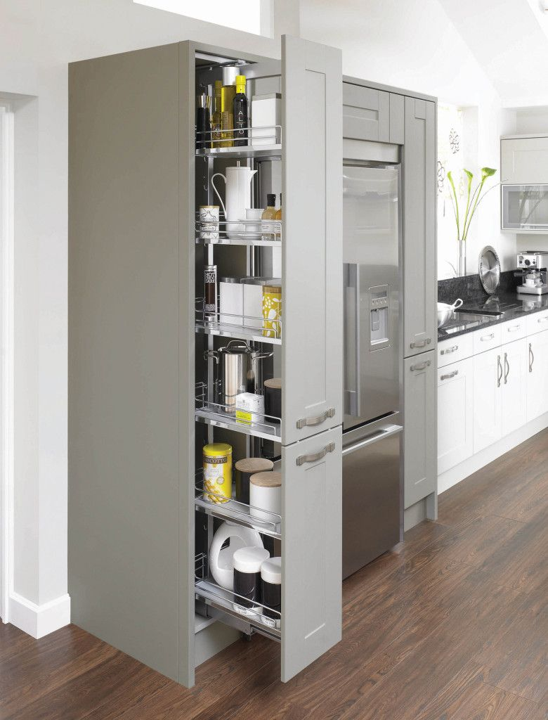 Canterbury Olive & Pebble Pull Out Larder Unit Mereway Hampshire ...